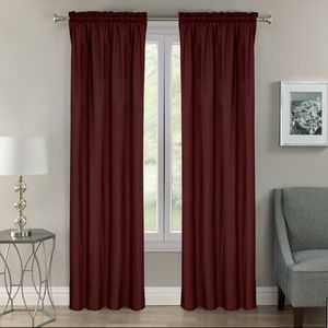 "Burgundy 65""x40"" Blackout Curtains"
